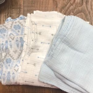 Other - Cotton Blue Receiving Blankets